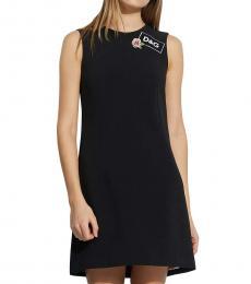 Black Front Logo Dress