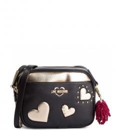 Love Moschino Black Hearts Small Crossbody