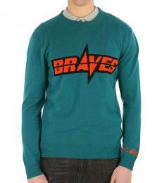 Bottle Green Cool Crew-Neck Sweater