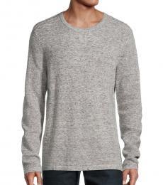 Michael Kors Grey Wool Waffle-Knit Sweater