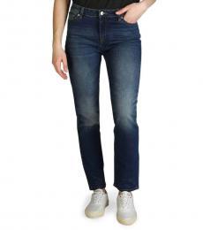 Armani Exchange Indigo Regular Fit Cotton Jeans