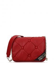 Versace Jeans Red Quilted Small Crossbody