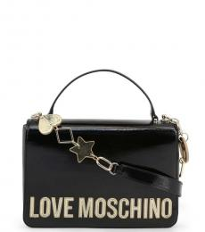 Love Moschino Black Bold Logo Small Satchel
