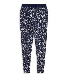 Ralph Lauren Girls Thames Floral Terry Pants