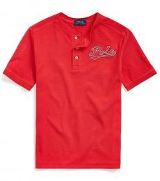Ralph Lauren Boys Evening Post Red Henley T-Shirt