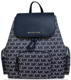 Michael Kors Navy Abbey Cargo Large Backpack