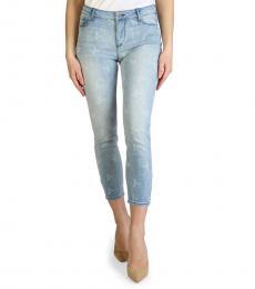 Armani Exchange Indigo Super Skinny Mid Rise Jeans