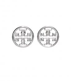 Tory Burch Tory Silver Miller Stud Earrings