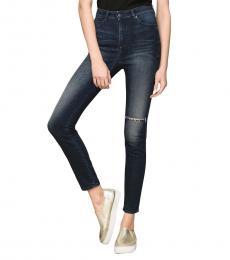 Armani Exchange Indigo Super Skinny High Rise Jeans