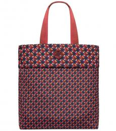 Tory Burch Tuscan Cherry Packable Geo Large Tote