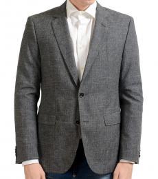 Hugo Boss Grey Wool Linen Blazer