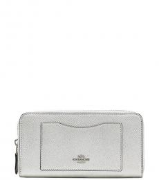 Coach Platinum Accordion Wallet