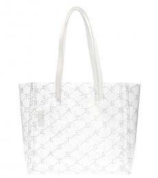 Stella McCartney Transparent Shopping Logo Large Tote