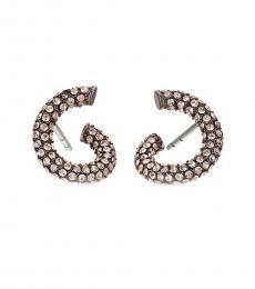 Metal Crystal Twist Earrings Earrings