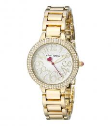Betsey Johnson Gold Tone Bracelet Watch