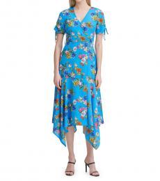Ocean Floral Midi Dress