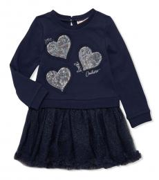 Juicy Couture Little Girls Blue Sweater Dress