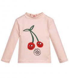 Baby Girls Pink Cherry T-Shirt
