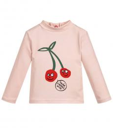 Stella McCartney Baby Girls Pink Cherry T-Shirt