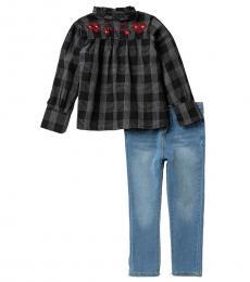 2 Piece Top/Jeans Set (Little Girls)