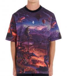 Marcelo Burlon Dark Blue Fantasy T-Shirt