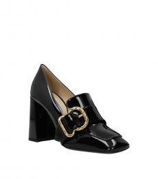 Prada Black Side Logo Heels