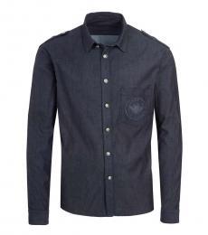 Balmain Dark Blue Logo Shirt