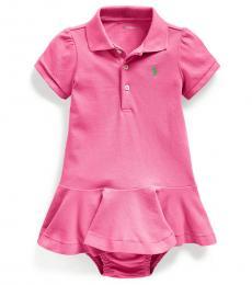 Ralph Lauren Baby Girls Pink Pique Polo Dress