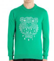 Kenzo Green Tiger Logo Sweater
