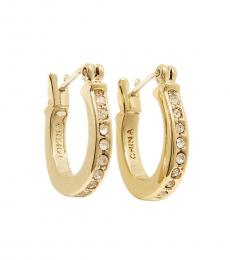 Gold Pave Signature Huggie Earrings