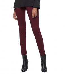 Cherry Solid Stretch Pants