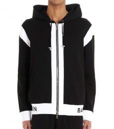 Balmain Black Logo Hoodie Jacket