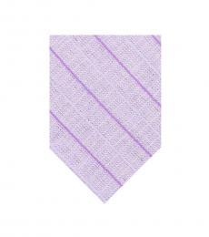 Calvin Klein Purple Bold Striped Slim Tie