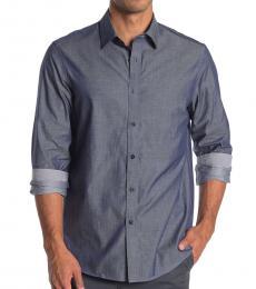 Indigo Sharkskin Classic Fit Shirt