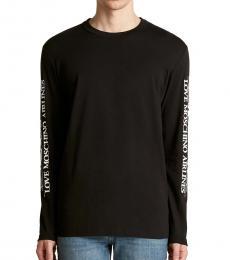 Black Long Sleeve Airlines Logo T-Shirt
