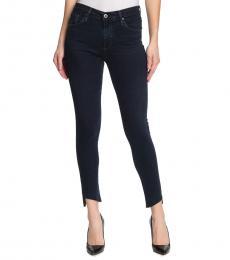 Dark Blue Farrah Skinny Ankle Jeans