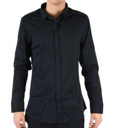Black Stretch Cotton Shirt