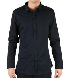 Emporio Armani Black Stretch Cotton Shirt