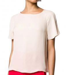 Emporio Armani Pink  Silk Short Sleeve Blouse