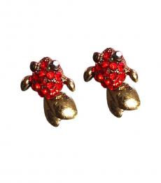 Red Koi Fish Stud Earrings