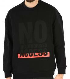 Neil Barrett Black Crewneck Print Sweatshirt