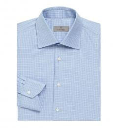 Canali Light Blue Long-Sleeve Dress Shirt