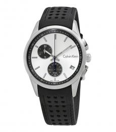 Calvin Klein Black Chronograph Silver Dial Watch