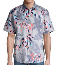 Light Grey Deco Palm-Print Shirt