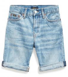 Ralph Lauren Boys Calhoun Wash Sullivan Slim Denim Shorts