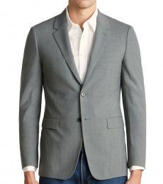 Grey Houndstooth Wool Jacket