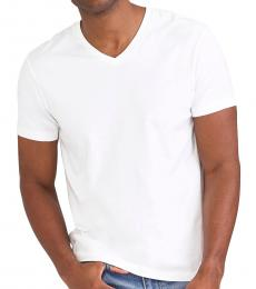 J.Crew White Washed Jersey V-Neck T-Shirt