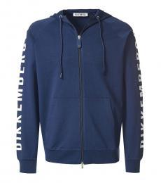 Bikkembergs Dark Blue Sleeve Logo Jacket