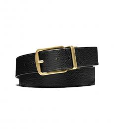 Coach Black-Dark Brown Golden Buckle Belt
