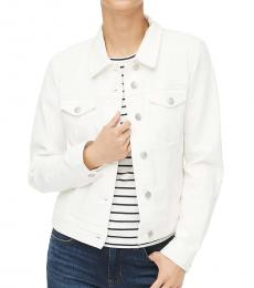 J.Crew White Classic Denim Jacket